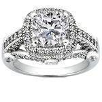 Cushion Diamond Legacy Style Engagement Ring 0.78 tcw.