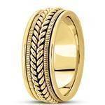 Wheat Rope Men's Yellow Wedding Band