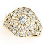 Compass Diamond Eye Ring Yellow Gold