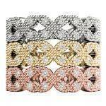 Floral Diamond Stackable Rings Set
