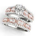 Two Tone Infinity Diamond Wedding Ring