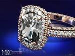 Tonnaeau Cushion Diamond Engagement Ring in 14 Karat Pink Gold, 1 tcw