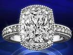 Tonnaeau Cushion Diamond Engagement Ring, 1 tcw