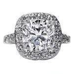 Cathedral Filigree Cushion Cut Diamond Heirloom Engagement Ring, 1.28 tcw.