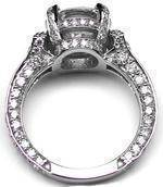Large Engagement Ring Graduated Diamonds