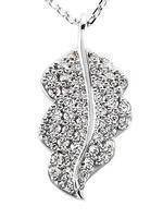Diamond Leaf Pendant