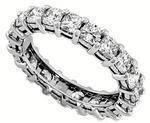 Cushion Cut Diamond Eternity Ring 2.6 carat tw. in Platinum