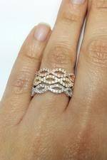 Infinity Trio Diamond Wedding Rings