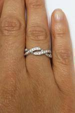 Infinity Diamond Engraved Wedding Ring