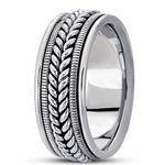 Wheat Rope Men's Comfort Wedding Band